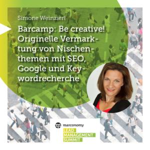 Marketing Manager GfK Symstem GmbH Simone Weinzierl Speaker Lead Management Summit 2020
