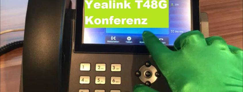 Yealink T48G Telefon Konferenz einrichten GfK System GmbH
